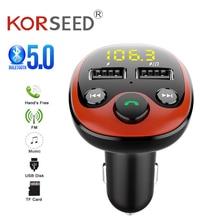 Radio Fm-zender Bluetooth Auto MP3 Speler Handsfree Car Kit Dual Usb Charger Tf U Disk Muziekspeler Auto Accessoires gadgets