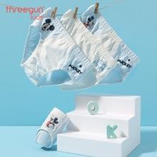 THREEGUN X Disney Boys Underwear Briefs Cotton Soft Panties Mickey Mouse for Teenager Toddler Boys 4Pcs/Lot