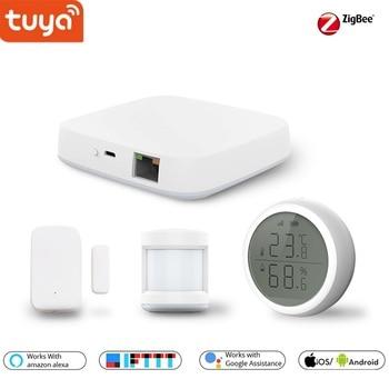 Tuya Smart Home Zigbee Gateway Hub Wall Switch PIR / Door /Temperature & Humidity Sensor, Security Alarm Kits works Alexa,Google https://gosaveshop.com/Demo2/product/tuya-smart-home-zigbee-gateway-hub-wall-switch-pir-door-temperature-humidity-sensor-security-alarm-kits-works-alexagoogle/