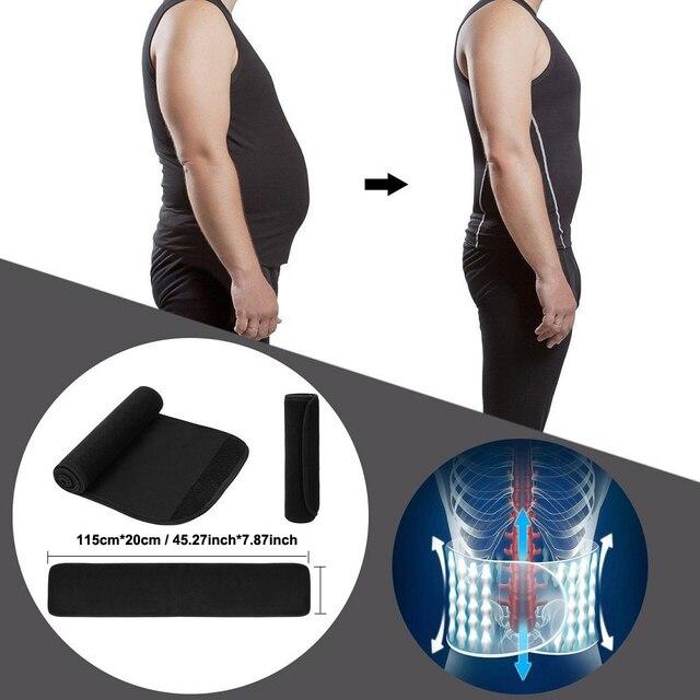 Tcare Neoprene Slimming Lumbar Waist Trimmer Belt Weight Loss Sweat Band Wrap Fat Tummy Stomach Sauna Sweat Belt For Gym Fitness 2