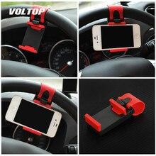 Câmera do carro universal volante clipe telefone titular para iphone 8 7 plus 6s samsung xiaomi huawei telefone móvel gps