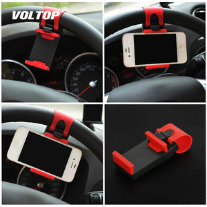 Image 1 - Universal Car Camera Steering Wheel Clip Phone Holder for IPhone 8 7 7Plus 6 6s Samsung Xiaomi Huawei Mobile Phone GPS