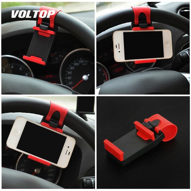 Universal Car Camera Steering Wheel Clip Phone Holder for IPhone 8 7 7Plus 6 6s Samsung Xiaomi Huawei Mobile Phone GPS