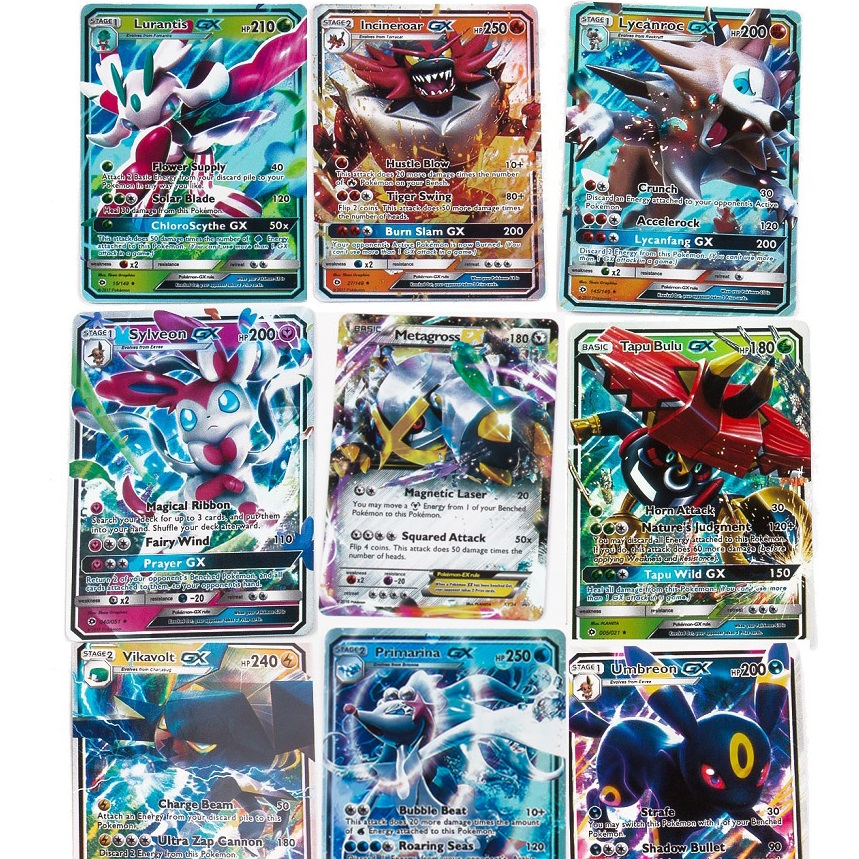 200 Pcs POKEMONS GX MEGA Shining TAKARA TOMY Cards Game Battle Carte Trading Cards Game Children Toy