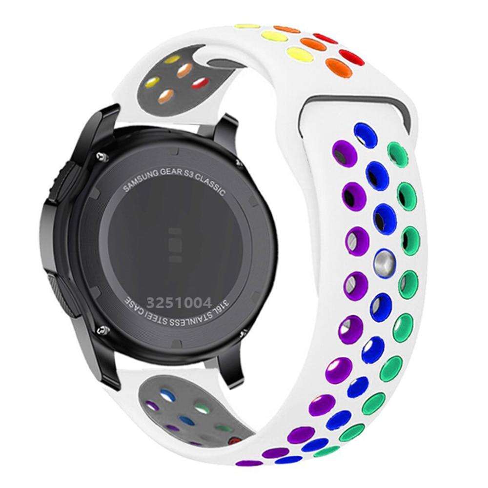 Ремешок силиконовый для Samsung Galaxy watch 3/46 мм/42 мм/Active 2/Gear S3 Frontier, браслет для Huawei GT/GT2/2e/Pro, 20 мм/22 мм