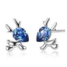 Lekani 2020 новые кристаллы от swarovski милые лося серьги гвоздики