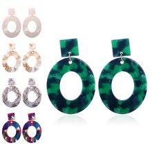 Leopard Print Acrylic Dangle Earrings Vintage Colorful Acetic Acid Resin Drop Earring For Women 2019 Jewelry Female Accessories