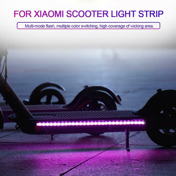 2 Pcs LED Light Strip Band Chassis Lamp Waterproof Accessory for Xiaomi M365 Scooter _WK