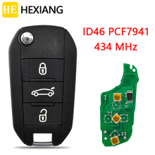 HE Xiang Car Remote Key For Citroen C4 Cactus C Elysee 2013 2016 HELLA Peugeot 308 3008 408 4008 508 5008 ID46 PCF7941 433MHz