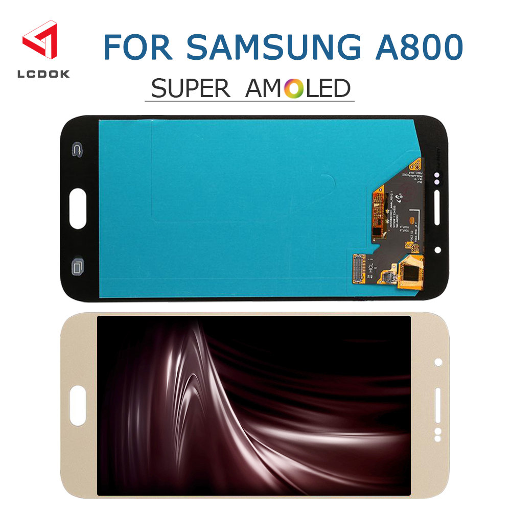 100% Tested Super Amoled LCD For Samsung Galaxy A8 2015 A800 A8000 A800F LCD Display Touch Screen Digitizer Assembly Panel Parts