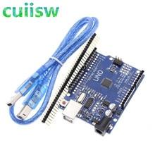 10PCS UNO R3 ปรับปรุงรุ่น ATmega328 สำหรับ Arduino + สาย