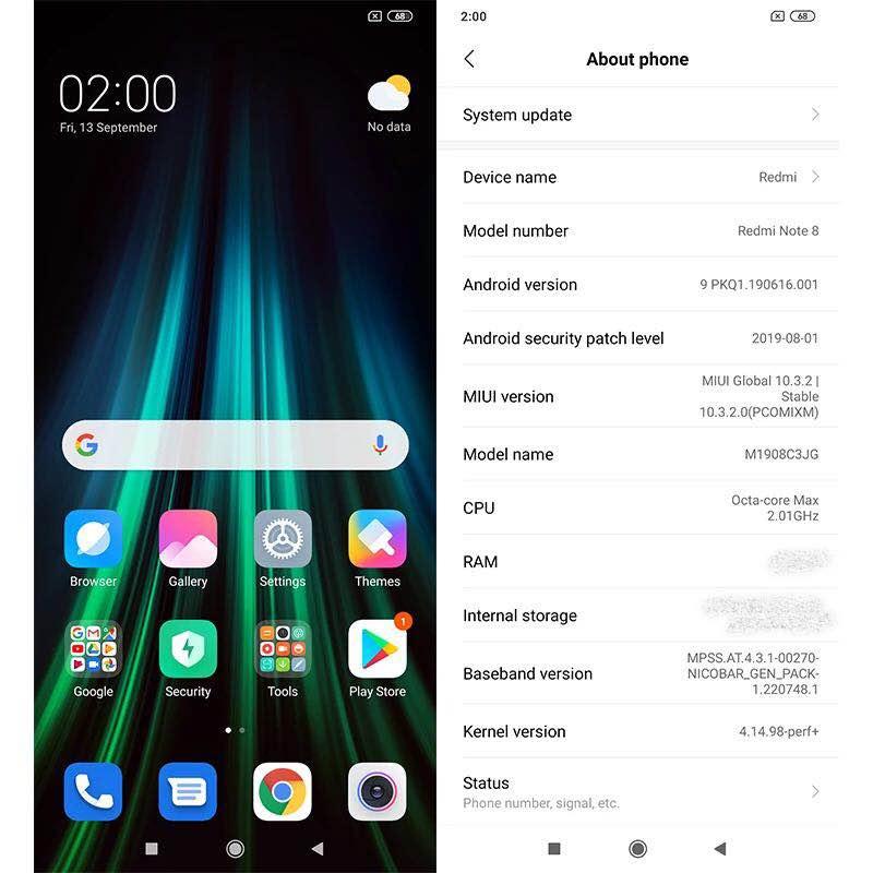 Global Version Xiaomi Redmi Note 8 4GB 64GB Smartphone Snapdragon 665 Octa Core 48MP Quad Rear Camera 6.3