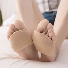 2 pairs women's high heel lace toe socks Sponge Silicone Anti-slip Open Toe Invisible Forefoot Cushion Foot Pad high heels Insol 1 2 pairs of high heeled shoes cushion non slip silicone embellished invisible insole with heel socks