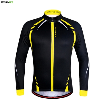 WOSAWE Winter Thermal Cycling Jackets Windproof Long Sleeve Jersey MTB Bike Bicycle ciclismo Reflective Fleece Cycling Clothing wosawe cycling jersey sets winter thermal sports pro jersey triatlon bike bicycle clothing jackets pants men women