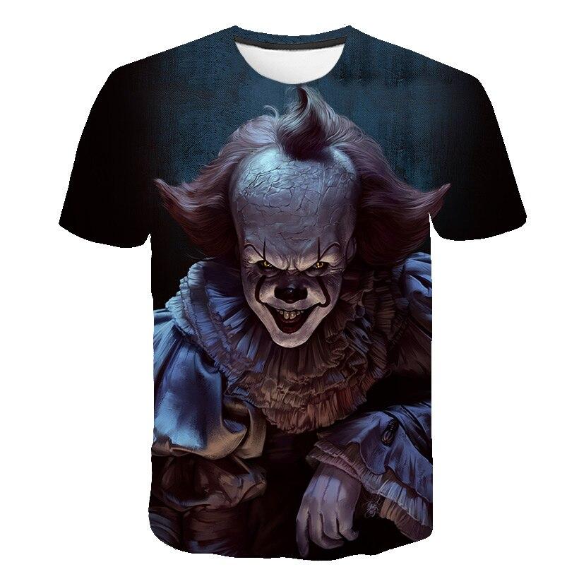 Horror Movie It Penny Wise Clown Joker 3D Print kids Tshirt boys/girls Hip Hop Streetwear Tee T shirt Boys Cool Clothes