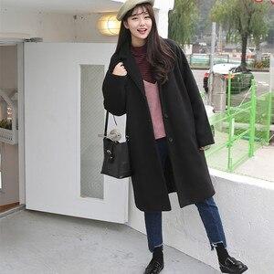 Image 4 - Mieszanki wełny kobiety wysokiej jakości ciepłe eleganckie Ulzzang cały mecz jesień zima modne koreański styl moda damska odzież Chic
