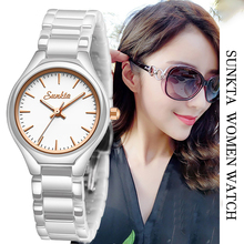 2019 Hot Lover luxury watches Quartz wristwatch for women Watch Hodinky White Gold Ceramic Strap Saat Reloj Mujer Zegarek Damski top bracelet watch women reloj mujer luxury rhinestone quartz watches wristwatch clock relogio feminino saat gift zegarek damski