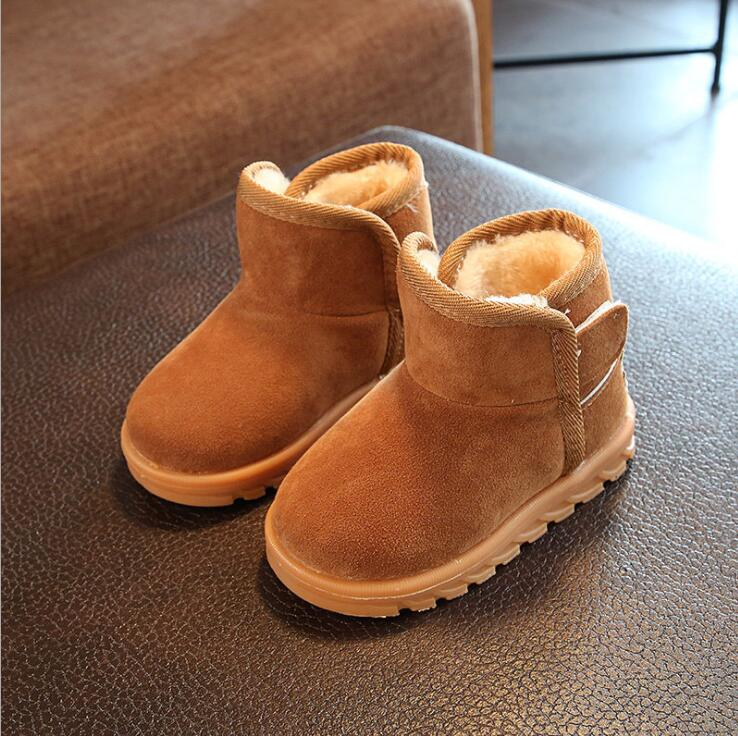 2019 New Plush Warm Baby Toddler Boots Fashion Child Snow Boots Shoes For Boys Girls Winter Shoes 1-10 Year Old Kids Ankle Boots