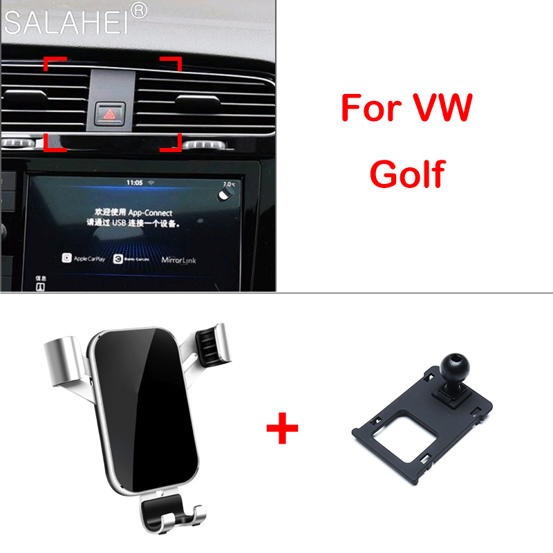 Автомобильный держатель телефона для VW Volkswagen Golf 7 MK7 2014-2018 держатель на вентиляционное отверстие автомобиля сотовый телефон стенд Поддержка...