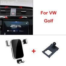 Suporte do telefone para vw volkswagen golf 7 mk7 2014-2018 montagem do respiradouro de ar do carro suporte da pilha acessórios do carro suporte do telefone móvel