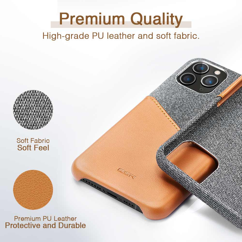 H2abe4fbe241045fdbfc246fa25fe9baao ESR Case for iPhone 11 Pro XR XS Max Cover Brand Luxury Leather Card Slot Shockproof Business Wallet Case for iPhone 2019 iphon