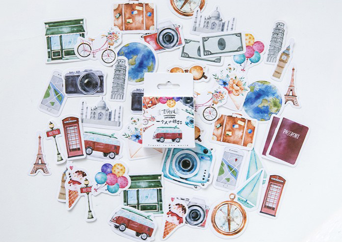 S56- One Travel Diy Decorative Sticker(1pack=46pieces)