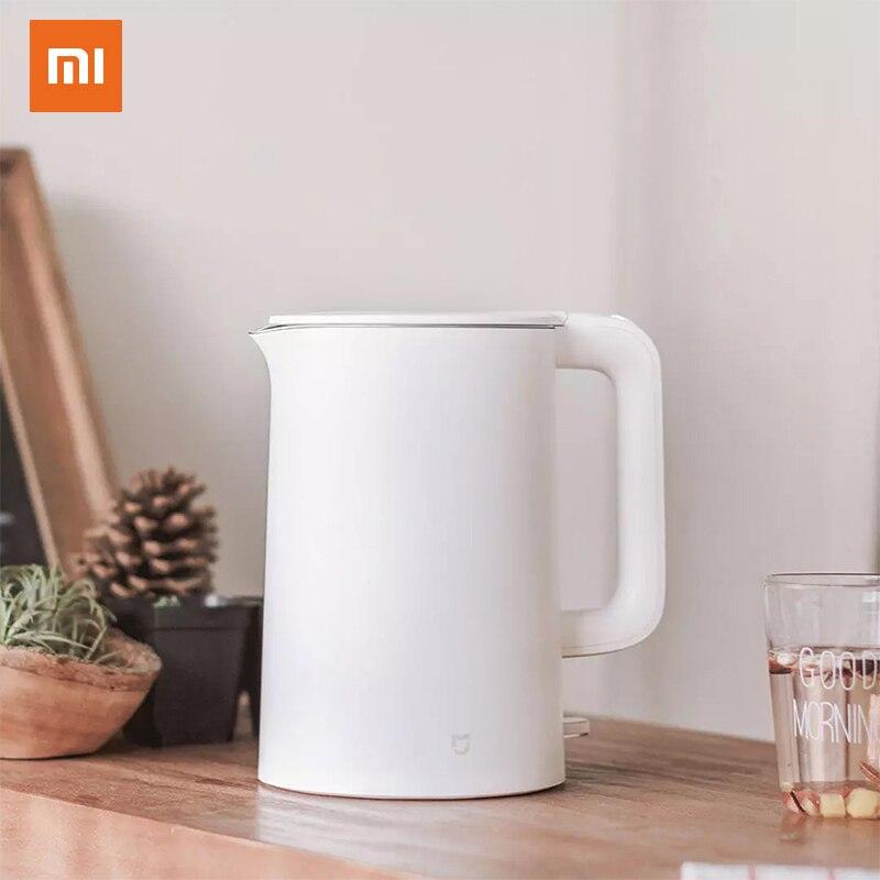 Orijinal Xiao mi mi jia elektrikli su isıtıcısı hızlı kaynatın paslanmaz çaydanlık semaver mutfak su ısıtıcısı mi ev 1.5L yalıtım