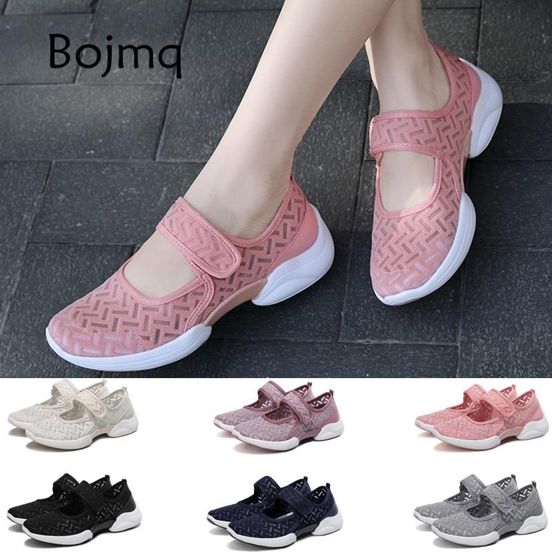 Bojmq Большой размер 42 Tenis Mujer 2020 Новая Женская теннисная обувь женская брендовая прогулочная спортивная обувь женские кроссовки Tenis Feminino