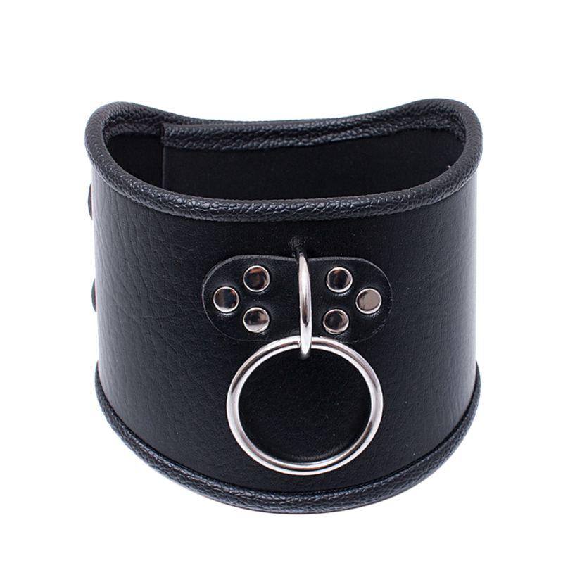 Locking Posture O Ring Collar Restraint Head Harness BDSM Adult Lockable Choker