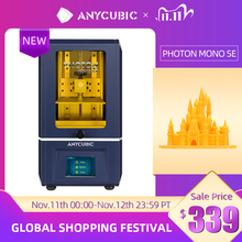 ANYCUBIC 3D принтер Photon Mono SE 405nm УФ полимер принтеры с 6 дюймовым 6 дюймовым монохромным ЖК дисплеем 2K, APP дистанционное управление, 130*78*160 мм
