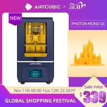 "ANYCUBIC 3D 프린터 광자 모노 SE 405nm UV 수지 프린터, 6 인치 6 ""2K 단색 LCD, APP 원격 제어, 130*78*160mm"