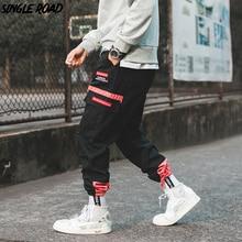 SingleRoad Hip Hop Harem Cargo Pantaloni Degli Uomini 2020 Tasche Laterali Pantaloni Pantaloni Streetwear Moda Maschile Casual Pantaloni Della Tuta Jogger Uomini