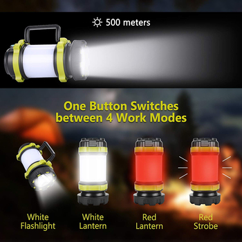 ZK20 Portable LED Camping Light Working Light Outdoor Tent Light   Handheld Flashlight USB Rechargeable Waterproof Search Light 2