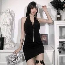 Robe tricotee extensible verser femmes longueur aux genoux en maille Mini robe moulante Sexy une mancherons amendes et dos nu pour femme