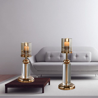 Candles home decoration candle candlesticks kitchen restaurant living room crystal Candle Holders stand 50XX025