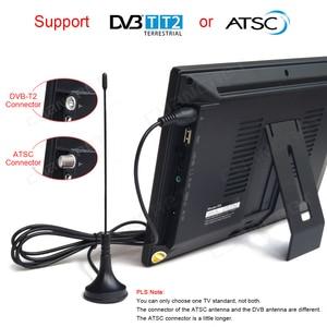 Image 5 - LEADSTAR DVB T2 נייד טלוויזיה ATSC tdt 9 אינץ דיגיטלי ואנלוגי טלוויזיה קדמי רמקול מיני קטן רכב טלוויזיה תמיכה H.265 AC3