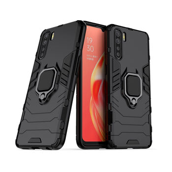 For OPPO A91 Case Armor Finger Ring Silicone Shockroof Bumper Hard Case For OPPO A91 Phone Protective Case Cover For OPPO A91 hot selling a91 starline a91 lcd remote controller for two way car alarm keychain starline a91 russian version