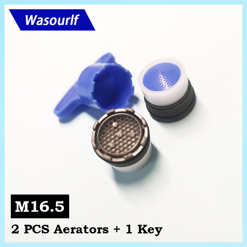 WASOURLF 2PCS M16.5 Male Thread Aerator Water Saving Tap Bubble Faucet External Concealed Aerator Kitchen Accessories Basin