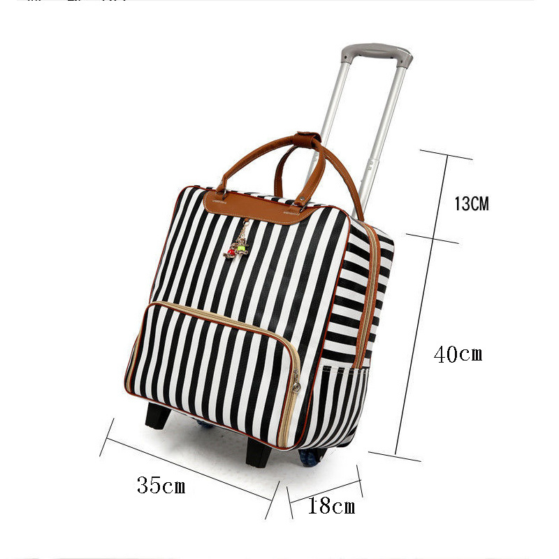 Women's Suitcase Suitcase, Waterproof Cabin Oxford Cloth, Trolley Car, Hand Luggage, Trailer Box, Universal Wheel Trolley Case