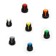 20PCS Potentiometer knob Cap AG2 Plastic knob for Diameter 6mm Plum Handle Yellow Blue White Red Green