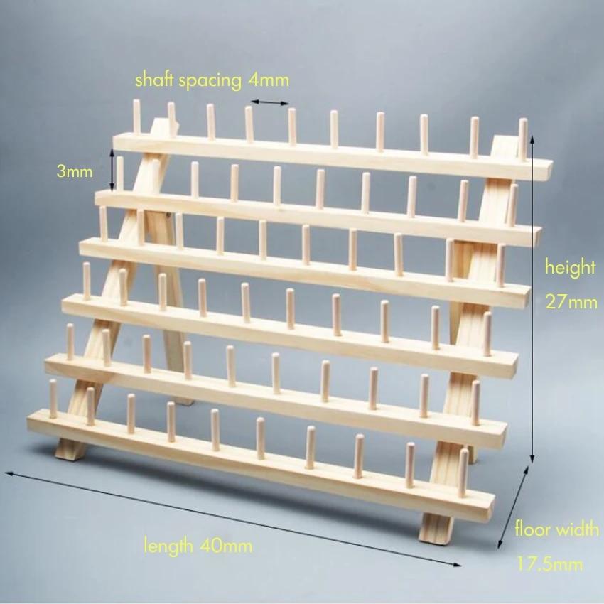 sturdy standing thread holder 60 spool sewing thread rack wooden embroidery thread organizer storage holder for sewing thread