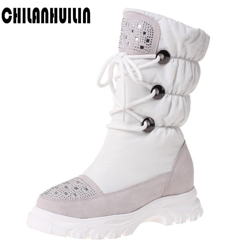 women's zipper ankle boots warm fur snow boots women platform boots woman shoes female outdoor casual shoes women flats booties
