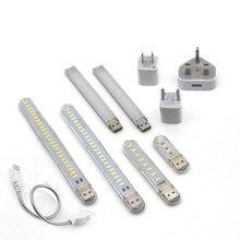 DC 5V Mini LED Nacht Licht Tragbare 10LEDs 24LEDs USB Lesen Tisch Lampe Biegsamen Verlängerung Pol UNS stecker Adapter Buch Lichter
