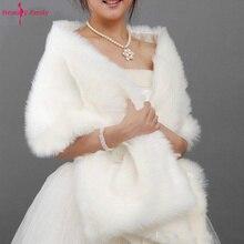 Abrigo de capa blanca de 170x35 CM, accesorios de boda, chal de novia para mujer, envoltura de chaqueta de talla grande, capa suave para boda, gran oferta