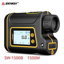 Sndway new launch Laser rangefinder 6x Telescope laser distance meter 1000m/1500m range finder for hunting/golf/sport/engineer