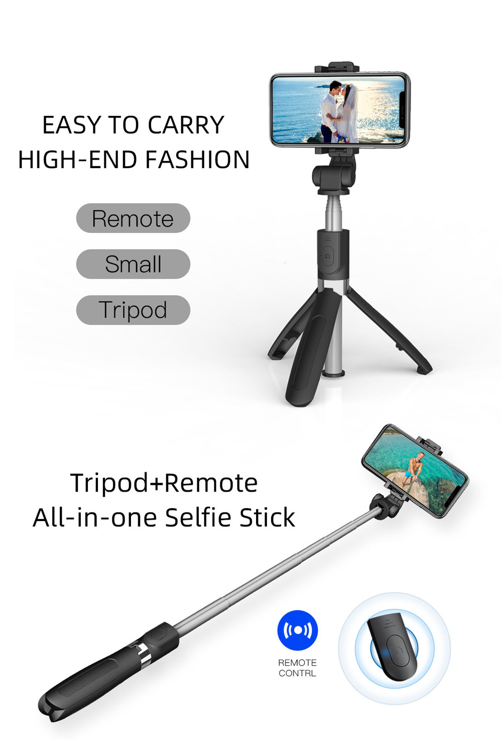 Mobile Phone Stabilizer Anti-Shake Tripod Selfie Stice