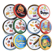 83Mm Dobble Kid Gele Doos Spot Het Game Card Basic Engels Versie Op Road Feestdagen Dobble Game