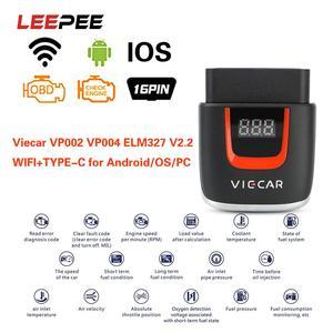 Image 1 - Viecar VP004 VP002 ELM327 V 2,2 Auto Diagnose Auto Werkzeug WIFI ULME 327 OBD2 Elm327 OBD USB Scanner Code Reader für Android/IOS