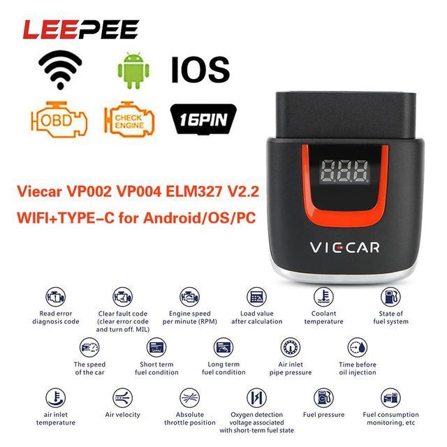 Viecar VP004 VP002 ELM327 V 2,2 Auto Diagnose Auto Werkzeug WIFI ULME 327 OBD2 Elm327 OBD USB Scanner Code Reader für Android/IOS
