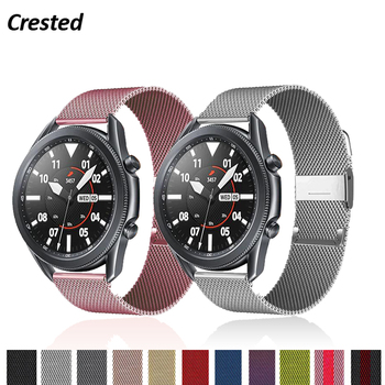 Correa Milanesa para Samsung Galaxy watch 3, 45mm, 41mm/Active 2, 46mm/42mm Gear...